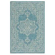 Teal Outdoor Rug Medallion Outdoor Rug Frontgate