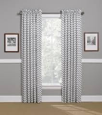White Wood Curtain Rod Interior Gray Curtains Grommet Along With Grey White Chevron