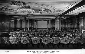 Titanic First Class Dining Room The First Class Lounge Turn A Cinema In Early 20 U0027s Year Strange