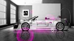 pink audi audi r8 crystal home car 2013 el tony