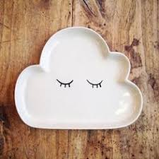 ceramic fish ring holder images White cat dish ceramic pottery ring bowl jewelry dish ring jpg