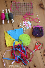 first sewing basket for kids handicraft child and kid activities