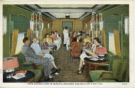 the national railroad postcard museum lounge car interior
