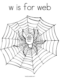W Is For Web Coloring Page Twisty Noodle Web Coloring Pages