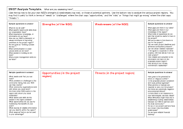 swot template analysis template with questions helloalive