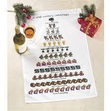 pair of wine lover u0027s christmas towels furniture home decor and