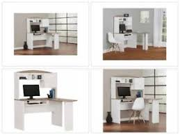 L Shaped Computer Desks With Hutch L Shaped Corner Computer Desk Hutch Home Office White Oak Student