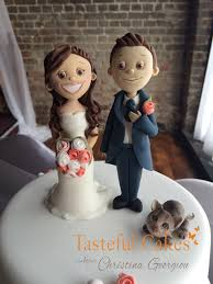 cat cake topper cakes by georgiou and groom with cat