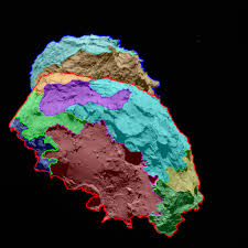 Surface Map High Resolution Images Reveal Surface Of Comet 67p Churyumov