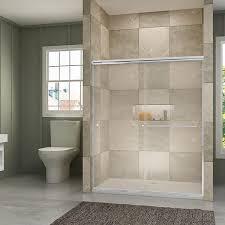 semi frameless sliding shower doors tempered clear glass chrome