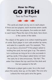 how to play the fish table richard mcguire s go fish card game art of play