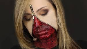 zipper face halloween makeup zipper face liquid latex set
