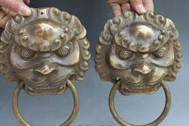 foo dog door knocker zhmui88006224 8 brass fu foo dog guardion lion