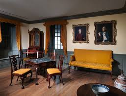 woodwork of a room from the colden house coldenham new york