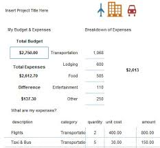 Travel Budget Template Excel Excel Financial And Travel Budget Templates
