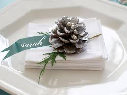 table decorations with pine cones 28 christmas table decorations settings hgtv