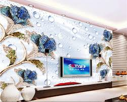 Fashion Home Interiors Online Get Cheap Blue Rose Wallpaper Aliexpress Com Alibaba Group