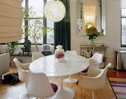 Eclectic Dining Room Sets Popularity Of Elegant Saarinen Dining Table