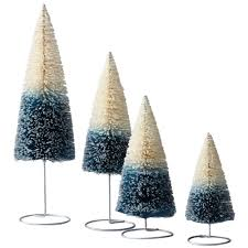martha stewart living mult sized ombre bottle brush trees set of