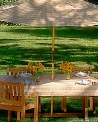 Outdoor Tablecloths For Umbrella Tables by Umbrella Tablecloth Martha Stewart