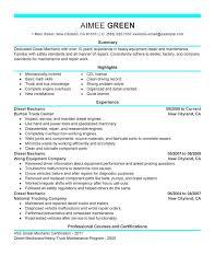 mechanic resume template diesel mechanic sle resume shalomhouse us