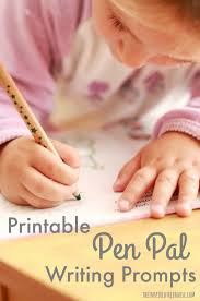 printable writing prompts for kids the pen pal project the