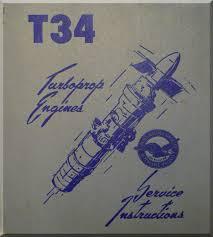pratt whitney t 34 aircraft engine service instruction manual 3