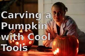 halloween pumpkin carving tools carving a pumpkin with cool tools youtube