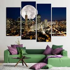 4pcs modern living room home decor wall art picture print san