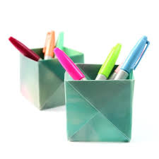 Origami Desk Organizer Pencil Holder Ideas Origami Pen Stand Dress Your Desk In Style