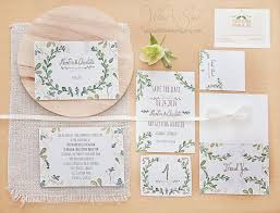 Inexpensive Wedding Invitations Floral Wedding Invitation Set Hand Painted Handwritten Text