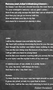 wedding quotes romeo and juliet romeo and juliet s wedding vows poem by robert rorabeck poem