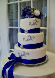 royal blue and silver wedding wedding cakes blue and silver wedding party decoration