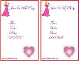 free princess birthday invitation cards template u2013 orderecigsjuice