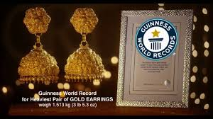 earrings in grt grt guinness world record gold ear rings jhumkas designs