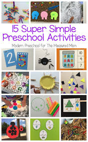 15 super simple learning centers for preschool the measured mom