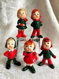 mid century napco carolers figurines ebay