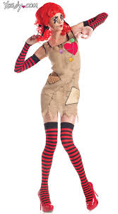 Rag Doll Halloween Costume Voodoo Doll Costume Women U0027s Doll Costume Voodoo Doll Halloween