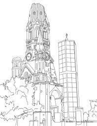all famous places in germany coloring pages including this berlin