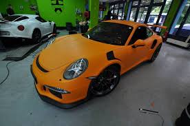 orange porsche new porsche 911 gt3 rs gets matte orange wrap