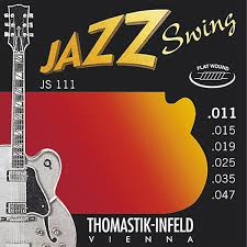 light electric guitar strings thomastik js111 light flatwound jazz swing electric guitar strings