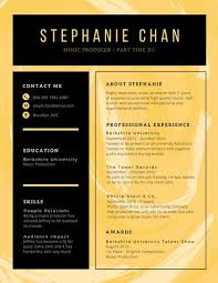 Exceptional Creative Resume Designs Tags Yellow And Black Abstract Creative Resume Templates By Canva