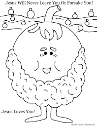 pumpkin coloring page jesus will never leave you