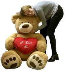 big valentines day i you teddy 5 foot soft 60 inch holds heart