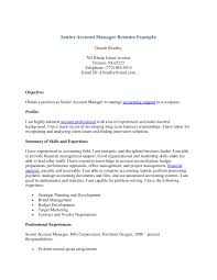 Account Manager Resume Sample by Senior Account Manager Resume Example Senior Account Manager