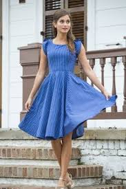 shop for cute chambray spring fit u0026 flare dresses with elbow