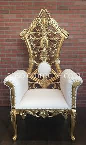 Throne Chair Factory Sale Gotham Throne Chair Gold White Absolom Roche