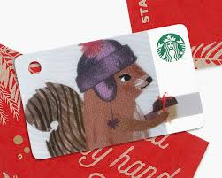 starbucks japan christmas holiday 2016 2nd card limited squirrel