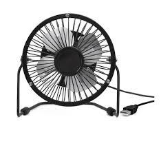 petit ventilateur de bureau petit ventilateur de bureau usb kikkerland noir