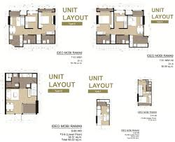 Singapore Floor Plan Ideo Mobi Rama 9 Unit Floor Plan Singapore New Property Launch